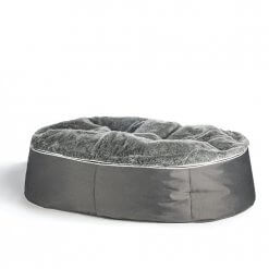 luxury XXL pet bed with faux fur washable cover