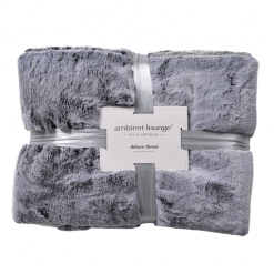 Comfy Grey Faux Fur Throw
