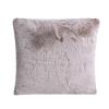 Soft Light Brown Faux Fur Cushion