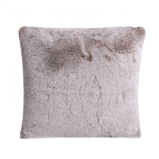 Soft Light Brown Faux Fur Cushion
