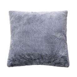 Soft Grey Faux Fur Pillow