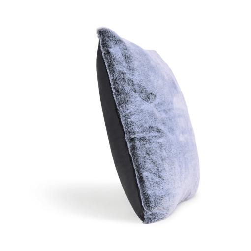 Soft Grey Faux Fur Pillow