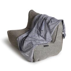 Comfy Grey Faux Fur Throw