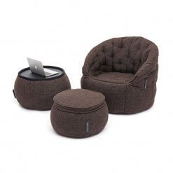 Contempo Beanbag Lounge Set in Brown