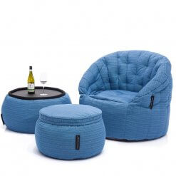 Contempo Beanbag Lounge Set in Ocean Blue