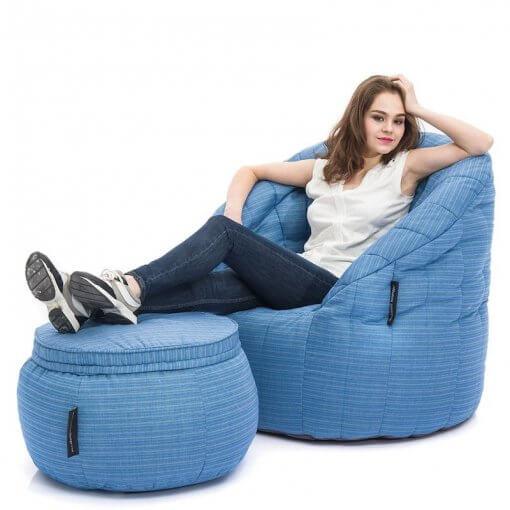 Contempo Beanbag Lounge Set in Ocean Blue