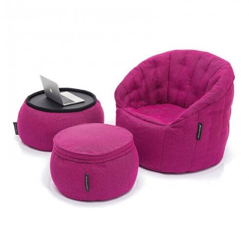 Contempo Beanbag Lounge Set in Pink
