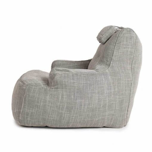 Lounge Armchair Bean Bag in Grey Weave
