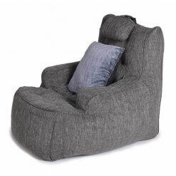 Lounge Armchair Bean Bag in Dark Grey